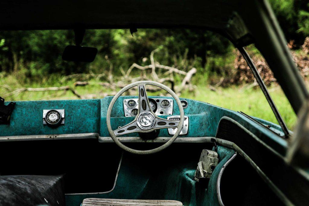 A steering wheel.